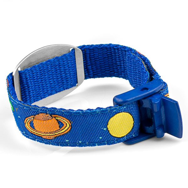 Outer Space Medical Alert Bracelet for Kids and Adults inset 1