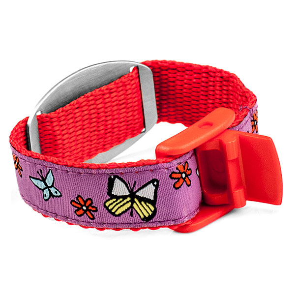 Butterfly Medical Alert Bracelet for Kids and Adults inset 1