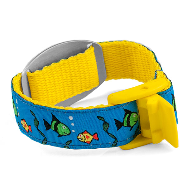 Fish Medical Alert Bracelet for Kids and Adults inset 1