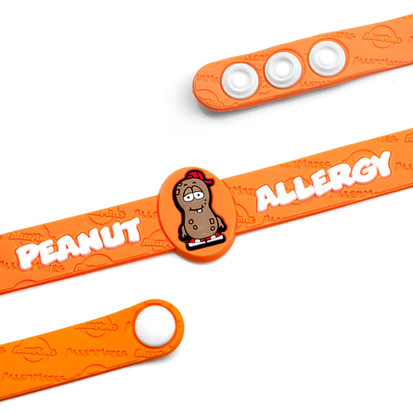 Peanut Allergy Wristband: Mr. P. Nutty inset 1