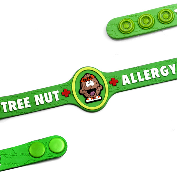 Nut Allergy Wristband: Mr. Nutso inset 1