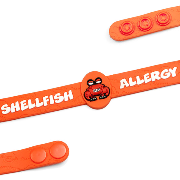 Crabby Shellfish Allergy Child Bracelet Fits 4 1/2 - 6 Inch inset 1