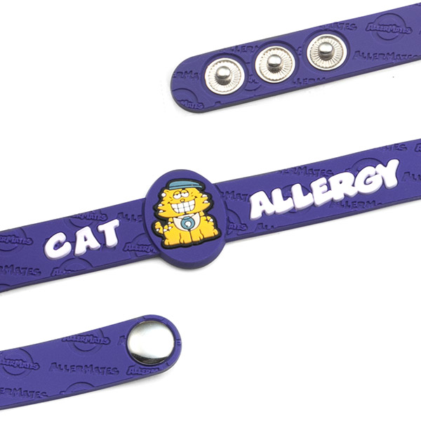 Cat Allergy Wristband: Mr. Nine inset 1