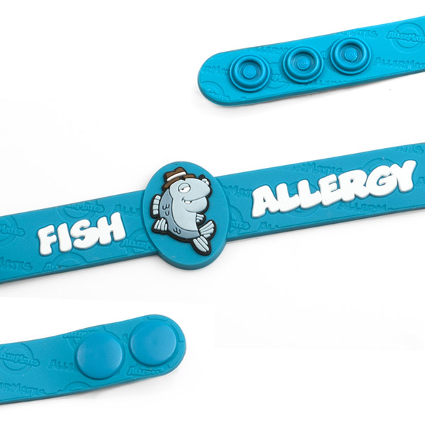 Fish Allergy Wristband: Mr. Detective Fin - HSKU:AM10063 inset 1