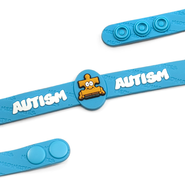 Light Blue Autism Bracelet for Kids 4 1/2 - 6 Inch inset 1