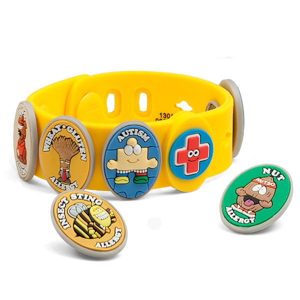 Allermates Kids Bracelet for Allergy and Medical Charms inset 1
