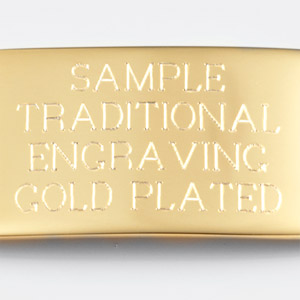 Example of gold plated traditional engraving
