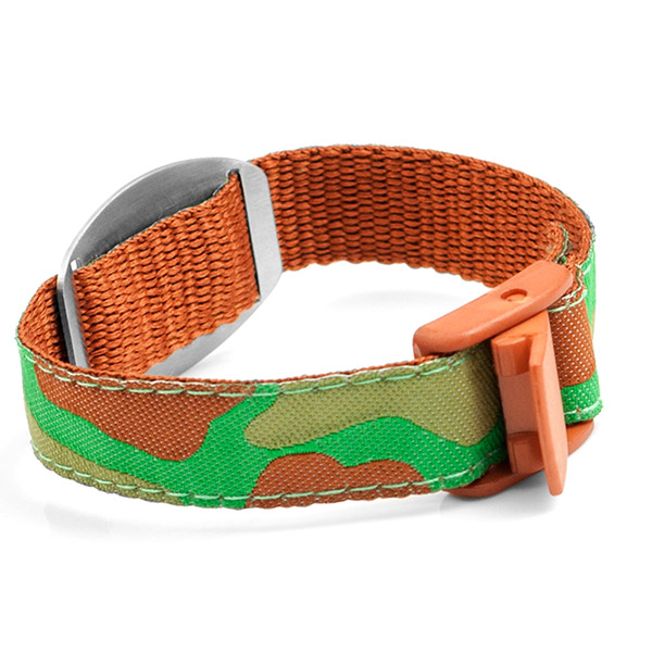Camouflage Medical Bracelet for Kids or Adults inset 1