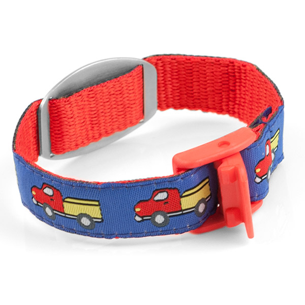 Keep on Truckin Childs Medical Bracelet inset 1