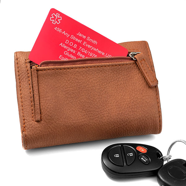 Red Aluminum Medical Wallet Card inset 1