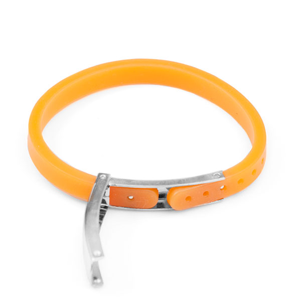Camper Alert Bracelet - Orange - 6 1/2 - Medical ID inset 1