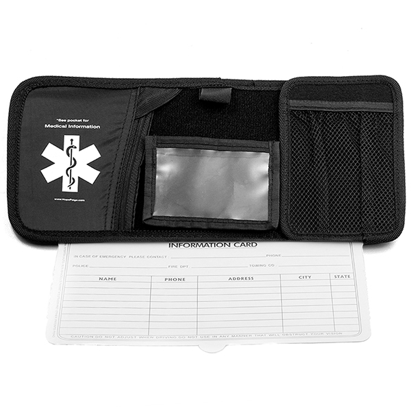 Medical ID Car Visor / Photo-Document Holder inset 1