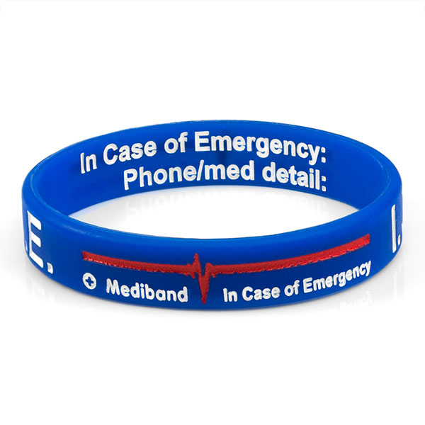Mediband - In Case of Emergency Write on - Blue - (Small) inset 1