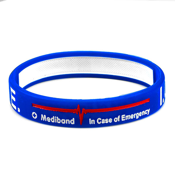 Mediband - In Case of Emergency Write on - Blue - (Small) inset 2
