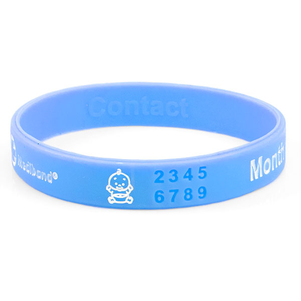 Mediband - Pregnancy Reversible Write on - Light Blue - Large inset 1