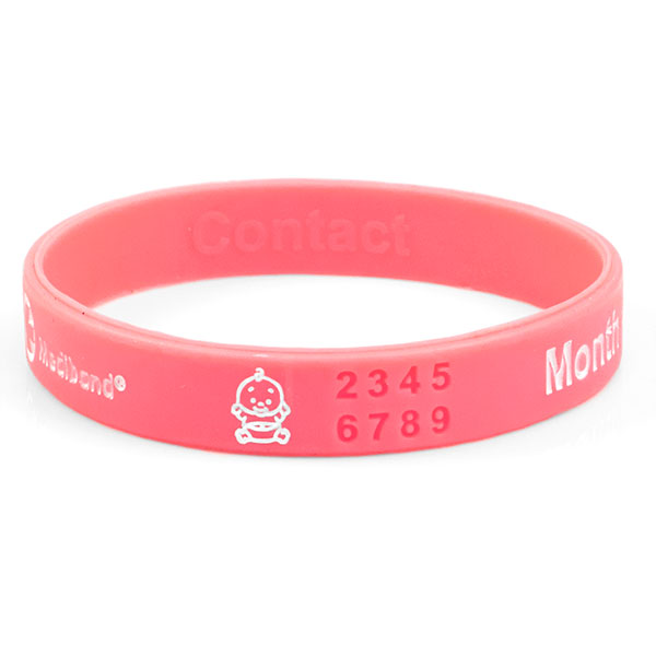 Mediband - Pregnancy Reversible Write on - Pink - Large inset 1