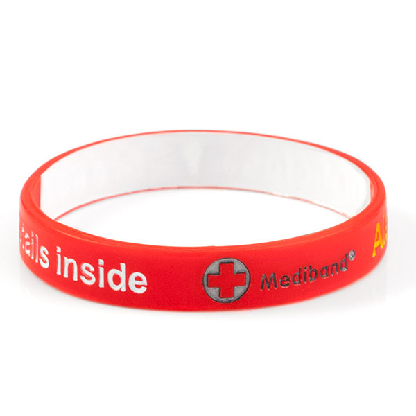 Mediband - Diabetes Write on - Red - (Large) inset 1