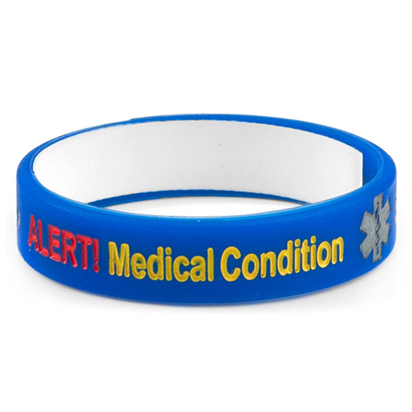 Mediband - Medical condition Write on - Blue - (Small) inset 1
