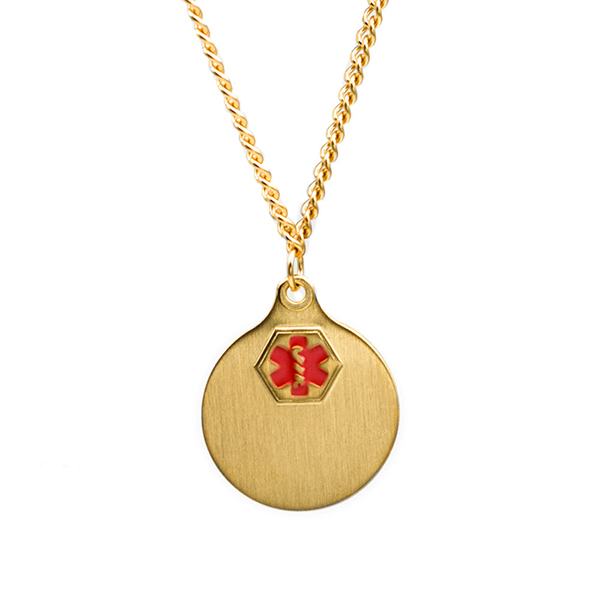 Gold Plated Medical Necklace with 2 Pendants inset 1