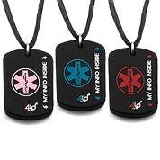 4ID Silicone Dog Tag Medical ID Necklaces