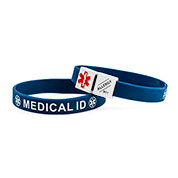 MediCube ID Navy - Allergy. Call 911 Silicone Wristband - HSKU:CubeALG-6096