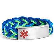 Braided Elastic Surfs Up Bracelet - Medical ID - HSKU:8090
