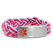 Braided Elastic Cotton Candy Bracelet - Medical ID - HSKU:8091