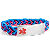 Braided Elastic Razzmatazz Bracelet - Medical ID - HSKU:8095
