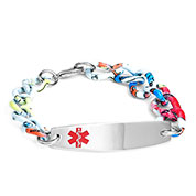 Multi Color Medical Bracelet - 7 inch - HSKU:8048-M