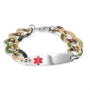 Camo Custom Medical ID Bracelet - HSKU:8044-L