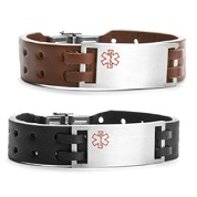 Bravo Leather Medical ID Bracelets