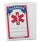 Tattoo (Write-on) - Allergies - 6 Pack - Medical ID - HSKU:9004-6