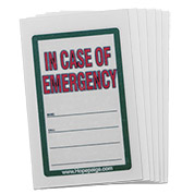 Tattoo (Write-on) - In Case of Emergency - 6 Pack - Medical ID - HSKU:9006-6