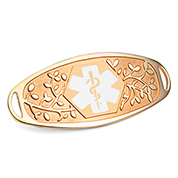 Fancy 3D Gold Medical Tag and White Symbol