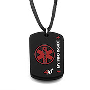 4ID Medical Dog Tag - Red - HSKU:4id102
