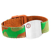 Camouflage Medical Bracelet for Kids or Adults