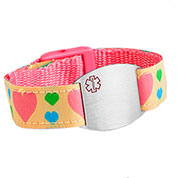 Hearts of Love Medical Bracelet for Girls or Women