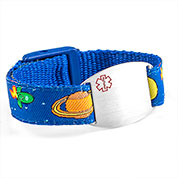 Outer Space Medical Alert Bracelet for Kids and Adults