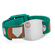 Baseball Medical Alert Bracelet for Kids and Adults