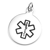 Medical Pendant Round Stainless