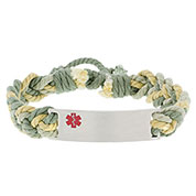 Rope Medical ID Bracelet Shades of Green - HSKU:5003