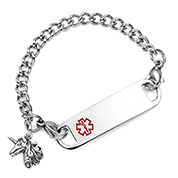 Kids Medical ID Unicorn Bracelet 5.5 inch