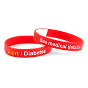 Mediband - Diabetes Write on - Red - (Medium) - HSKU:2108-M