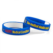 Large Blue Mediband - Write On Medical ID Bracelet