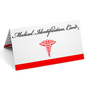 Emergency Medical ID Wallet Card