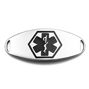 Medical ID Tag with Black Symbol