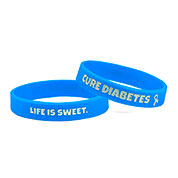 Life is Sweet Cure Diabetes Awareness Bracelet (7 1/4 inches) - HSKU:9050-M
