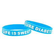 Life is Sweet Cure Diabetes Awareness Bracelet - HSKU:9050-S