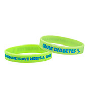Some I love Needs a Cure. Cure Diabetes Awareness Bracelet - Green - HSKU:9052-S