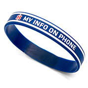 My Info On Phone Silicone Band - 7  inches fits up to 6.5 inch wrist - HSKU:9060-M